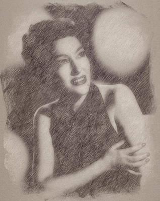 Celebrities Paintings - Gloria Swanson by Esoterica Art Agency