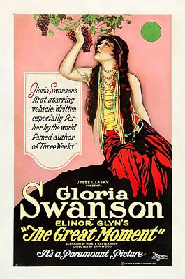 Gloria Drawing - Gloria Swanson In The Great Moment 1921 by Mountain Dreams
