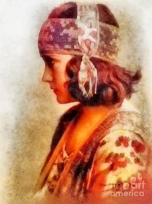 Gloria Painting - Gloria Swanson, Vintage Hollywood Actress by Frank Falcon