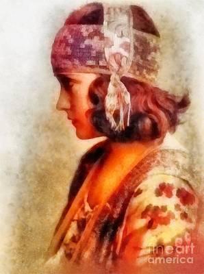 Gloria Swanson, Vintage Hollywood Actress Art Print by Frank Falcon