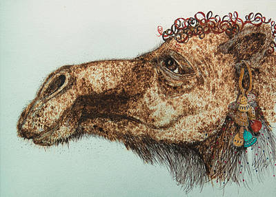 Camel Mixed Media - Gloria by Wanda McVeigh