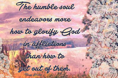 Glorify God In Afflictions Art Print by Michelle Greene Wheeler