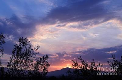 Rincon Mountains Wall Art - Photograph - Glorious Arizona Sunrise by Janet Marie