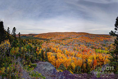 Glorious Autumn Lutsen Mountain Resort North Shore Minnesota Art Print