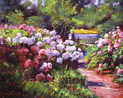 Pathways Painting - Glorious Blooms by David Lloyd Glover