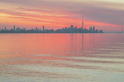 Photograph - Glorious Brushstrokes - Toronto Skyline At Dawn by Georgia Mizuleva