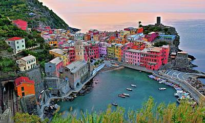 Photograph - Glorious Cinque Terre Sunrise  by Frozen in Time Fine Art Photography