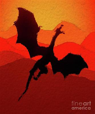 Pegasus Digital Art - Glorious Dragon by Mary Bassett