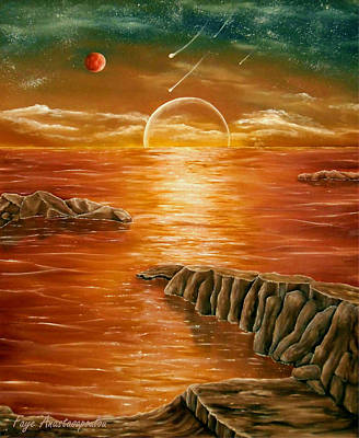 Planet Fantastic Painting - Glorious Earth by Faye Anastasopoulou