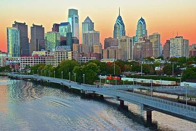 Photograph - Glorious Philly Sunset  by Frozen in Time Fine Art Photography