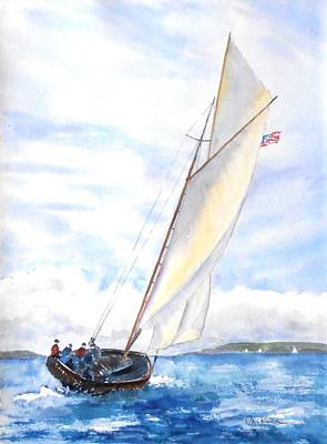 Painting - Glorious Sail by Diane Kirk