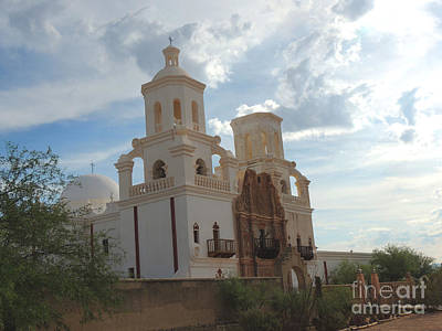 Glorious  Spanish Catholic Mission  Art Print by Beverly Guilliams