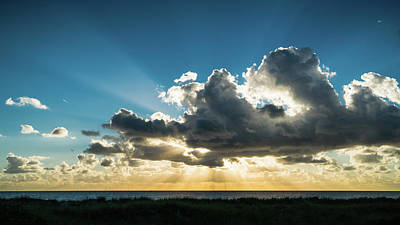 Photograph - Glorious Sunrise Rays Delray Beach Florida by Lawrence S Richardson Jr