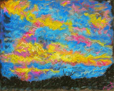 Glorious Sunset 2 Art Print by Laura Heggestad