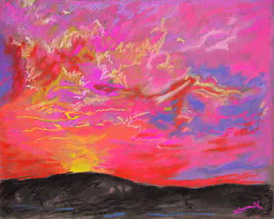 Glorious Sunset 5 Art Print by Laura Heggestad