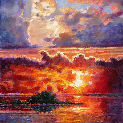 Painting - Glorious Sunset  by John Lautermilch
