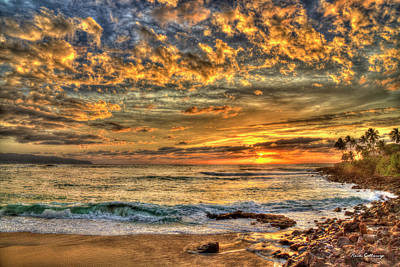 Photograph - Glorious Waimea Bay Sunset Oahu Hawaii Collection Art by Reid Callaway
