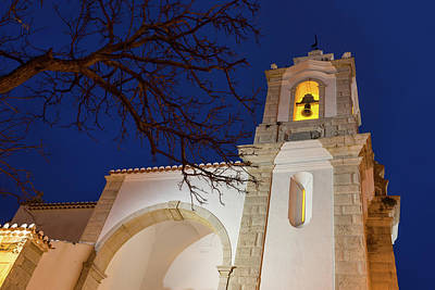 Photograph - Gloriously Lit Blue Hour - Igreja De Santo Antonio In Lagos Portugal by Georgia Mizuleva