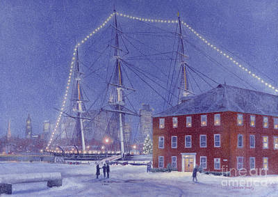 Uss Constitution Painting - Glory At Eventide by Candace Lovely