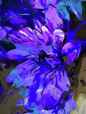 Digital Art - Glory Blue by Jackie VanO