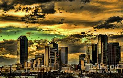 Photograph - Glory  Downtown Dallas At Sunset by Diana Mary Sharpton