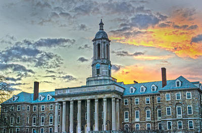 Psu Photograph - Glory Of Old State by Michael Misciagno