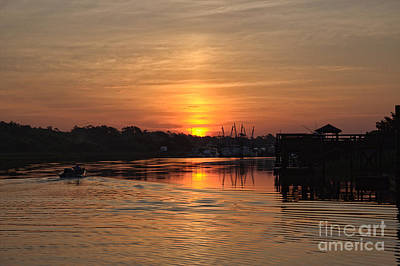 Glory Of The Morning On The Water Art Print
