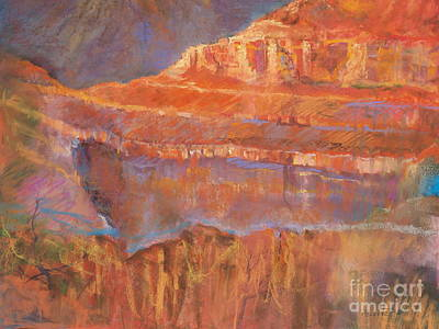 Grand Canyon Drawing - Glory Of The West  by Robin Maria Pedrero