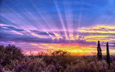 Photograph - Glory Rays by Charlie Alolkoy