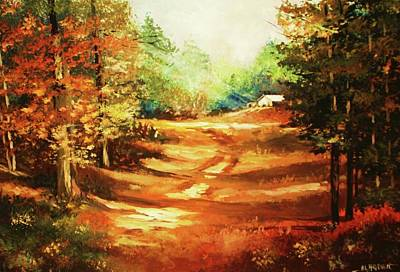 Painting - Glory Road In Autumn by Al Brown