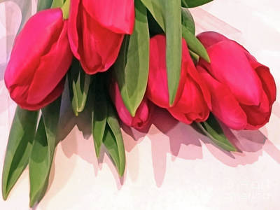 Photograph - Glossy Tulips by Jasna Dragun