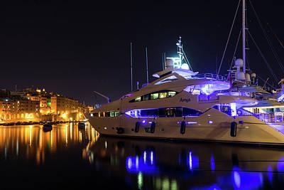 Photograph - Glossy Vittoriosa Marina In Ultra Violet And Cyber Yellow by Georgia Mizuleva