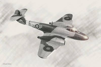 Digital Art - Gloster Meteor F3 by Douglas Castleman