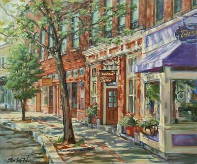 Store Fronts Painting - Gloucester Around Town by Sharon Jordan Bahosh