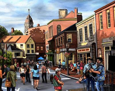 Painting - Gloucester Block Party by Eileen Patten Oliver