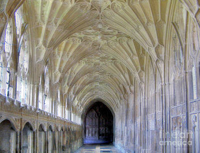 Photograph - Gloucester Cathedral Cloisters by Nigel Fletcher-Jones
