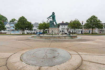 Photograph - Gloucester Fishermans Memorial by Brian MacLean