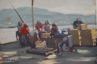 Painting - Gloucester Fishermen by Len Stomski