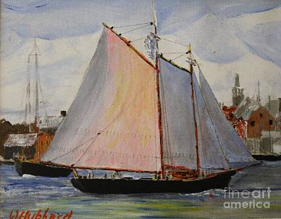 Painting - Gloucester Harbor by Bill Hubbard