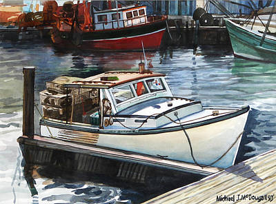 Painting - Gloucester Harbor by Michael McDougall