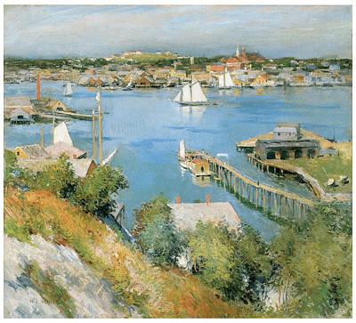 Gloucester Harbor Art Print by Willard Leroy Metcalf