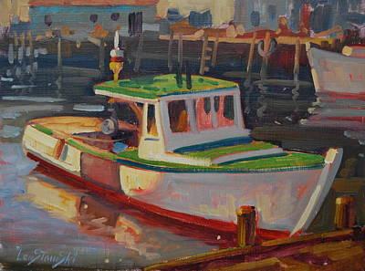 Rockport Massachusetts Painting - Gloucester Lobster Boat by Len Stomski