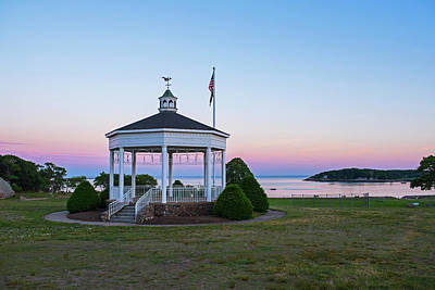 Photograph - Gloucester Ma Stage Fort Park Band Stand Gazebo Sunset by Toby McGuire