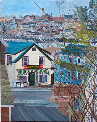 Painting - Gloucester's Last Stop by Laurence Dahlmer
