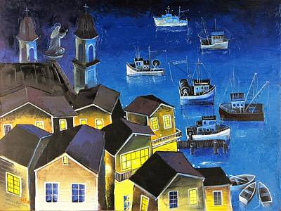 Painting - Glouchester Harbor by Mikhail Zarovny
