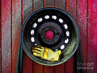 Photograph - Glove And Wheel by Valerie Morrison