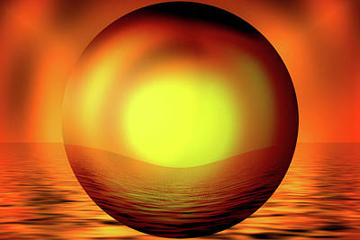 Digital Art - Glow Ball by Cheryl Hall