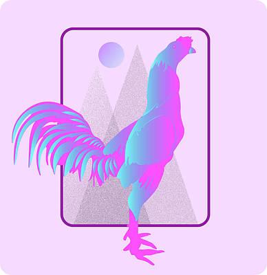 Artichoke Digital Art - Glow Chicken by Purbawa ART
