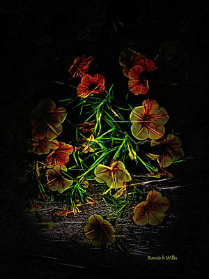 Digital Art - Glow Flowers by Bonnie Willis