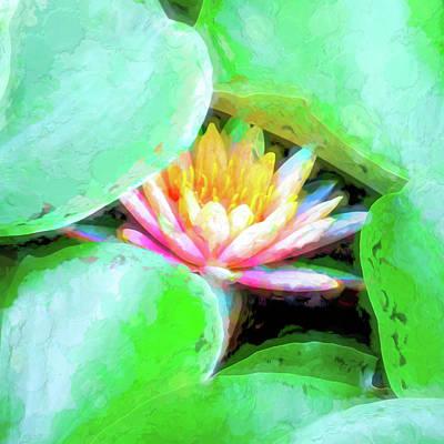 Mixed Media - Glow From Below by Susan Lafleur